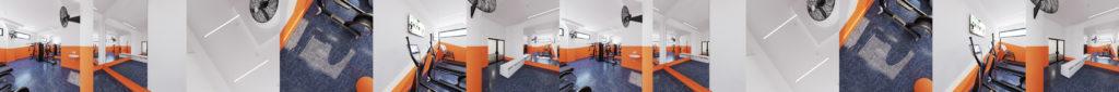 4D Immersive Fitness Center Environment